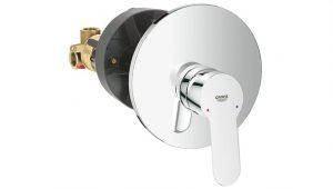 Grohe® Grifería BauEdge Monocomando ducha sin transferencia incluye vista y válvula codigo 29078000