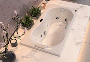 Bañera con hidromasaje Jacuzzi© Espree 153x81x54