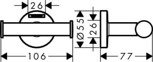 Hansgrohe Logis Universal Doble gancho codigo 41725000
