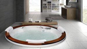 Bañera con hidromasaje Jacuzzi©  Gemini Wood diametro 2m