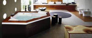 Bañera con hidromasaje Jacuzzi©  Flexa Wood