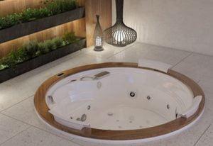 Bañera con hidromasaje Jacuzzi© Gemini Wood  200 diametro x 63.5 cm
