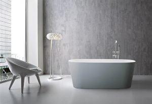 Bañera Exenta Modelo CHIC CORIAN 157 x 67×60